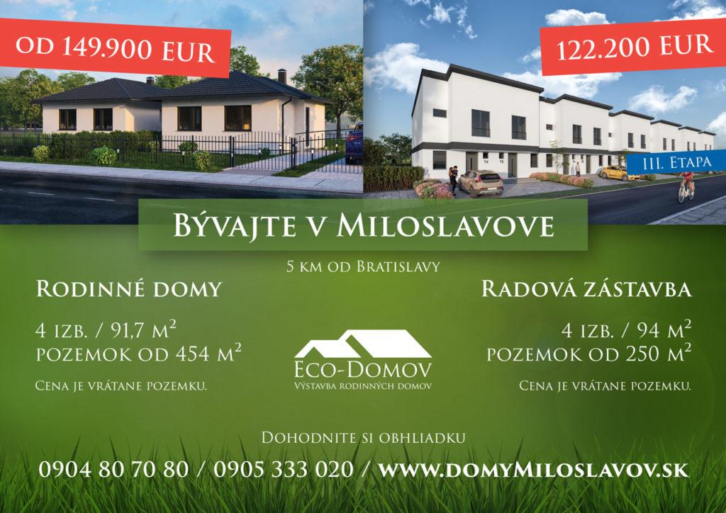 Domy - Miloslavov